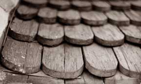 Rounded Ends Of Wood Shingles