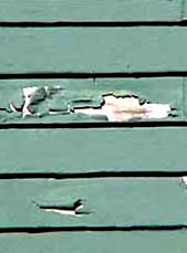 peeling paint on historic wood siding photo john leeke 2002. Black Bedroom Furniture Sets. Home Design Ideas