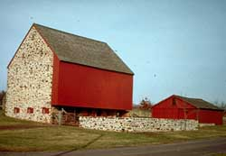 Wood Barn With Stone End Walls