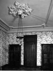 Room With Plaster Ceiling Medallion And Molded Cornices
