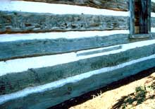 Replacement sill on the same log structure.