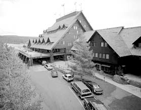 Old Faithful Inn, Yellowstone National Park, Wyoming.