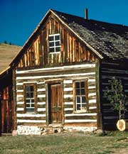 Gable End Of A Two Story Log Building