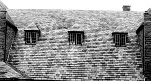 Slate Roof With Three Dormers.