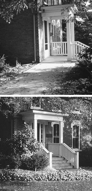 Wheelchair ramps for stairs - Preservation Brief 45 Preserving Historic Wood Porches