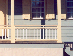 Porch Railing With Additional Above The Historic