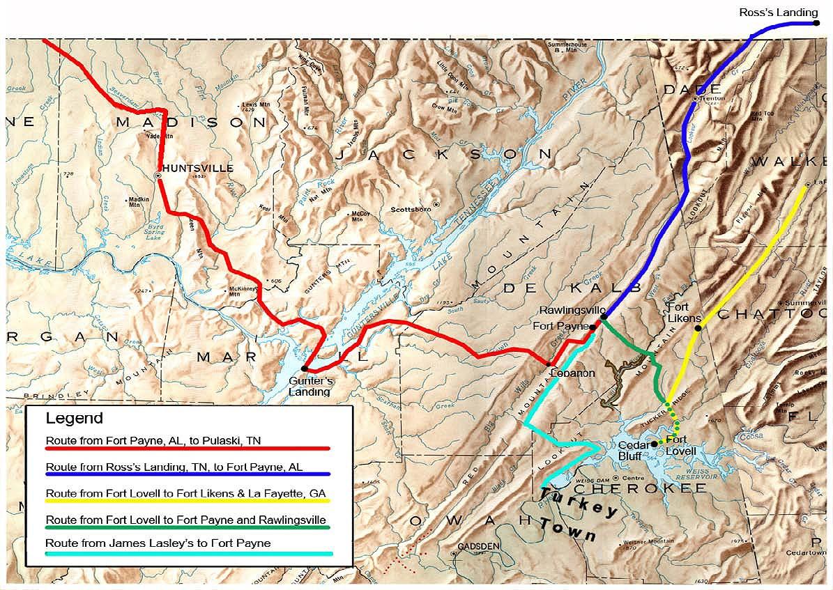Trail Of Tears Oklahoma Map.Alabama Trail Of Tears National Historic Trail U S National Park