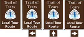 Local Tour Route signs