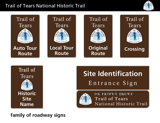 TRTE family of road signs