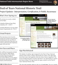 Trail of Tears newsletter image