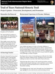 Trail of Tears Association Newsletter front page