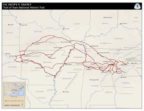 Trail Of Tears Oklahoma Map.Maps Trail Of Tears National Historic Trail U S National Park