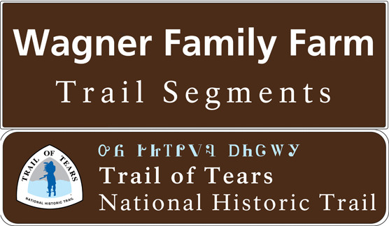 Wagner Farm Trail Segments entry sign