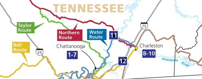 Trail Of Tears Oklahoma Map.Find Your Park Itinerary For Tennessee Trail Of Tears National