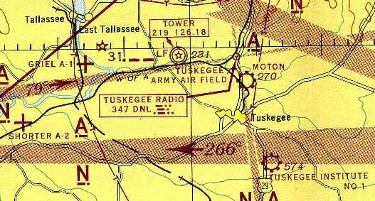 Map of Tuskegee Air Field