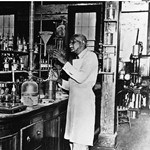 George W Carver in Lab