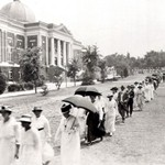 Students walking in front of Tompkins Hall