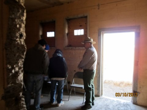 Ranger Giving Tour inside Tule Lake Segregation Center Jail