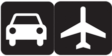 Transportation Icon of car and plane