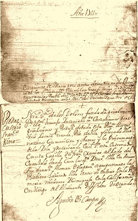 historic document in spanish