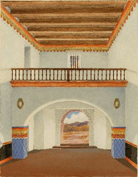illustration of choir loft