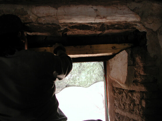 Work on the interior of the window