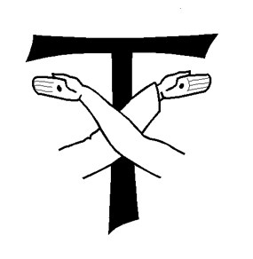 franciscan tau with crossed arms