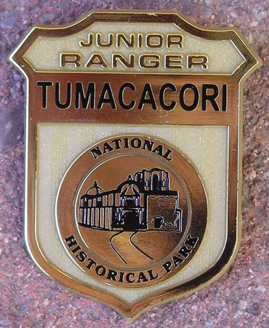 Tumacácori Junior Ranger badge