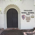 Entrance to Tumacácori National Historical Park