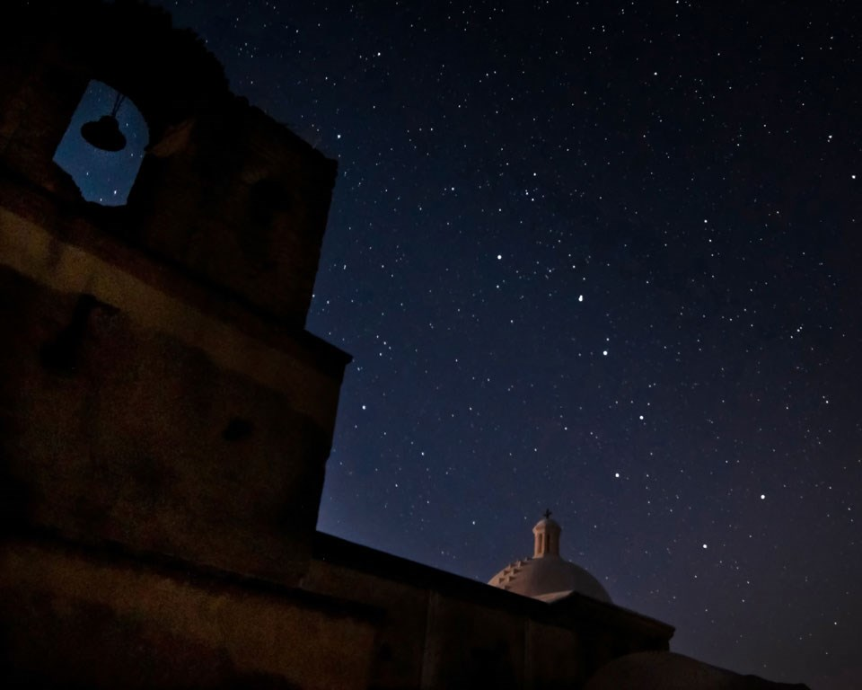 dome of church with starry sky behind::2014-Night,-church,-stars,-cr-ARC-Photography-(4)