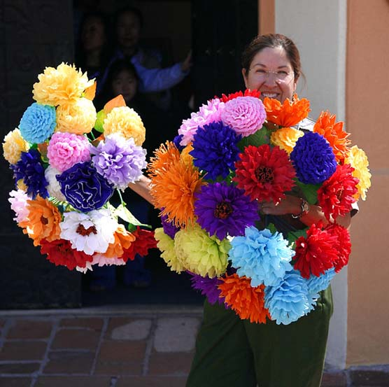 Faye And Greer Mexican Paper Flowers