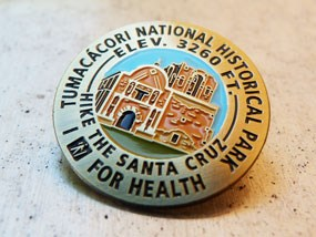 pin with mission church and I Hike For Health logo