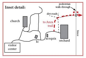 detailed map of route from mission grounds to anza trail