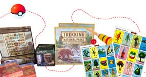 collage of board games and treasure trail