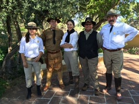 staff in old timey national park service uniforms