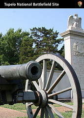 a cannon and mounument on the front of a trading card