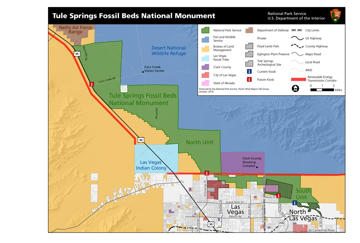 Map of Tule Springs Fossil Beds National Monument