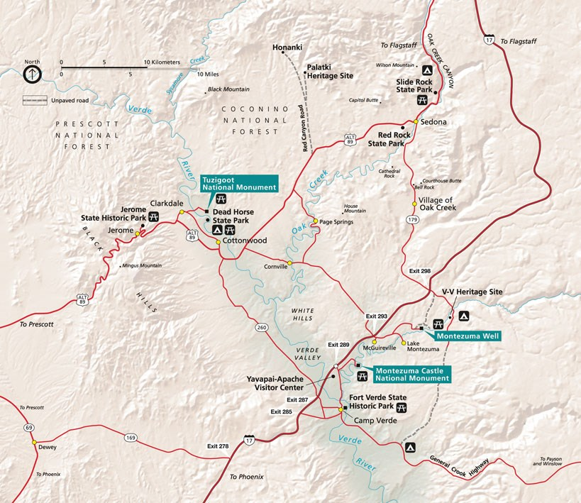 Verde Valley Area Map