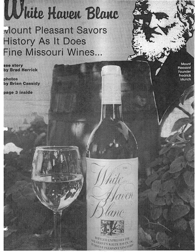 Newspaper advertisement for White Haven Blanc wine