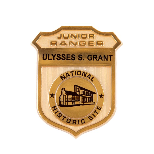 picture of Junior Ranger badge that shows image of historic house