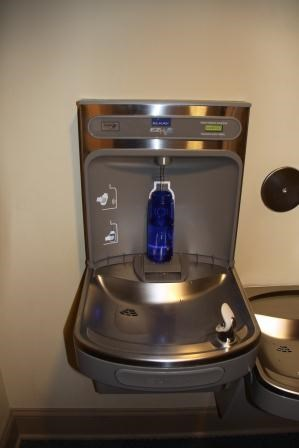 Photograph of water fountain at Ulysses S. Grant National Historic Site demonstrating water bottle filler.
