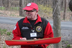 National Canoe Safety Patrol member Bill Snelling during the annual spring training.
