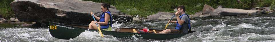 The Upper Delaware's mild rapids and quiet pools are ideal for canoeing, kayaking, or rafting.