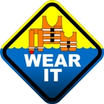 Wear a lifejacket while boating, swimming, or fishing. Wear it for life!