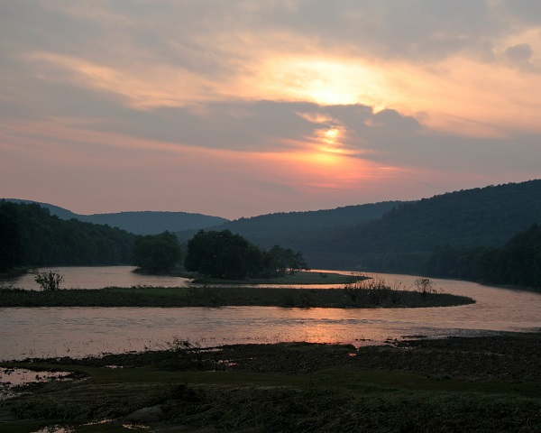 Sunset view of Upper Delaware River
