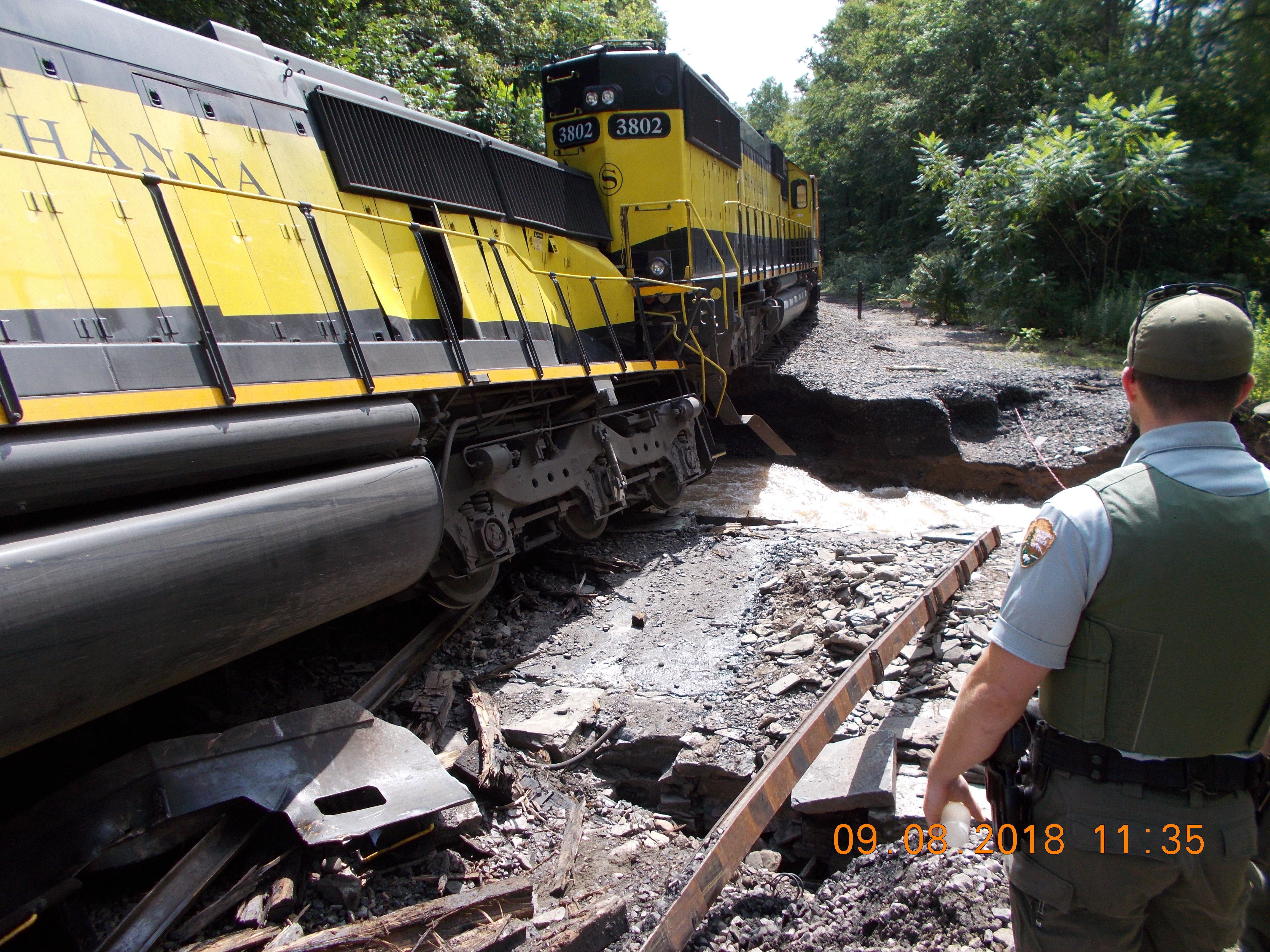 Train Derailment Along the West Branch of the Delaware River.