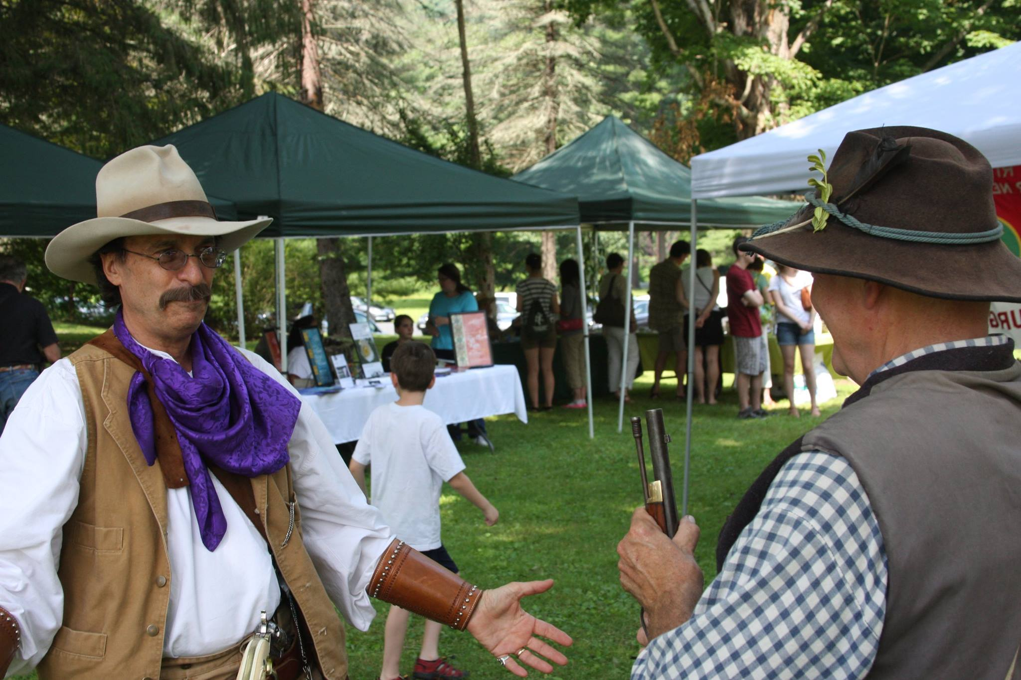 The Cowboy Dentist meets a Civil War Soldier at the Zane Grey Festival