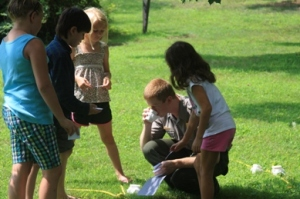 Budding naturalists learn about their environment during Backyard Biology.
