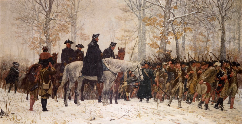 Painting - The March to Valley Forge by William Trego