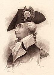 Black and white engraving of Continental Army General Anthony Wayne.